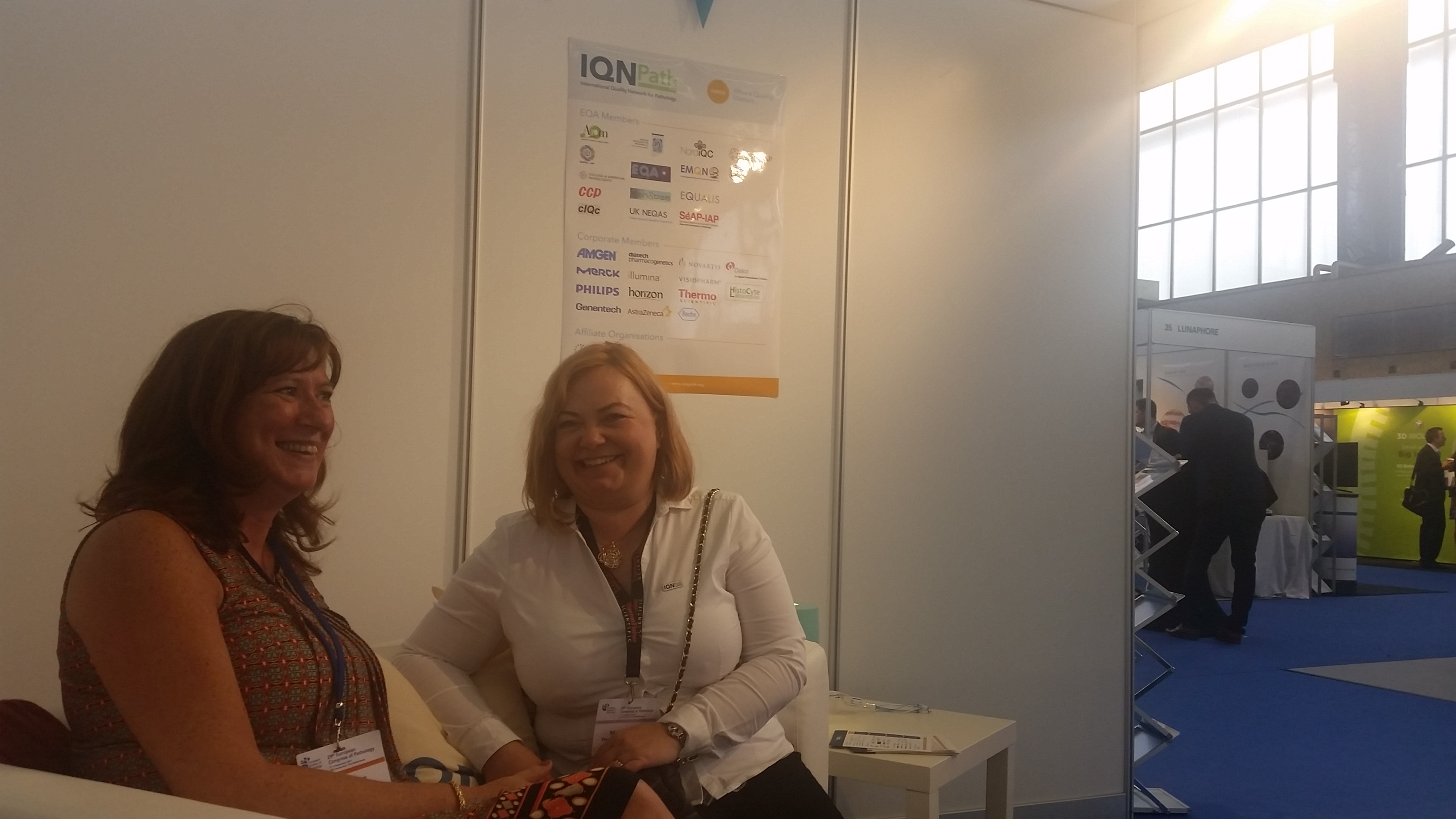 IQN Path's Exhibition booth, ECP 2017 Amsterdam   IQN Path